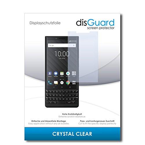 disGuard® Bildschirmschutzfolie [Crystal Clear] kompatibel mit BlackBerry Key2 [2 Stück] Kristallklar, Transparent, Unsichtbar, Extrem Kratzfest, Anti-Fingerabdruck - Panzerglas Folie, Schutzfolie