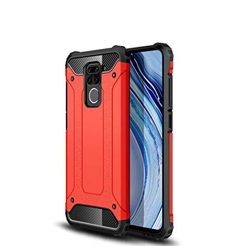 Liluyao Funda telefónica para Xiaomi para el Caso de combinación 9 Armadura mágica de TPU PC Xiaomi redmi Nota (Color : Red)