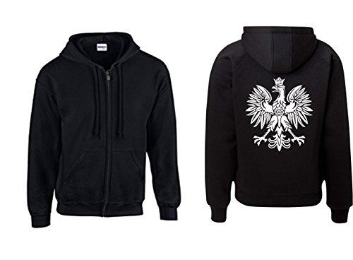 Jacke - Polska Adler Wappen Logo (Schwarz, XXL)