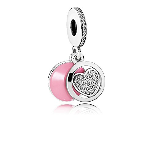 Pandora Sterling Silver Devoted Heart Dangle Charm 792149EN24