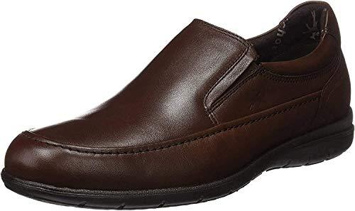 Fluchos Mocasines cuero real marrón castaño