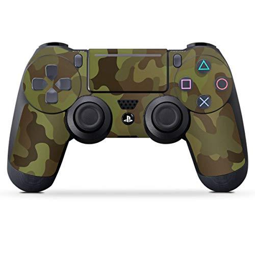 DeinDesign Skin kompatibel mit Sony Playstation 4 PS4 Slim Controller Folie Sticker Camouflage Tarnmuster Bundeswehr