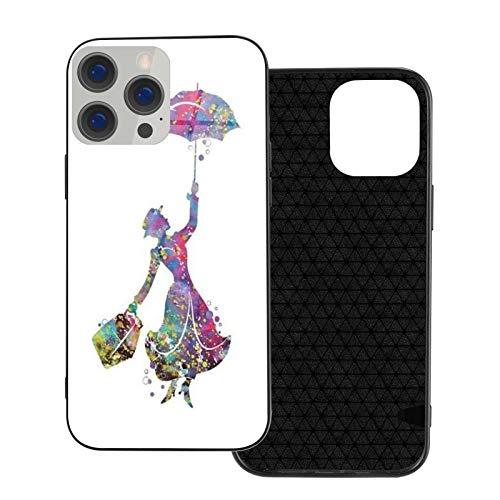 Mary Poppins Glass Black Carcasa de telefono Compatible para iPhone 12 Pro MAX Mini 11 Pro MAX XR X/XS 7/8/SE 2020 7plus/8 Plus 6/6s 6plus/6s Plus