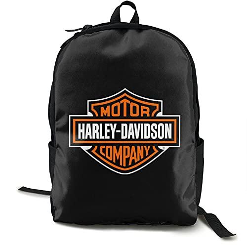 Zooly Harley Davidson, zaino classico per posti di lavoro in viaggio, ad alta capacità, unisex