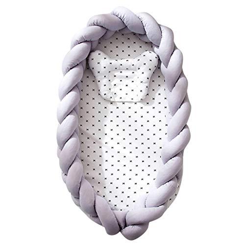 Nid de Bébé Cocon Bébé Nourrisson Cocon Réducteur de Lit Voyage Portable Cotton Super Doux Respirant Lavable Amovible Nid de Sommeil Nouveau-Né et Nourrisson 0-3 Ans Cadeau Bebe (G)