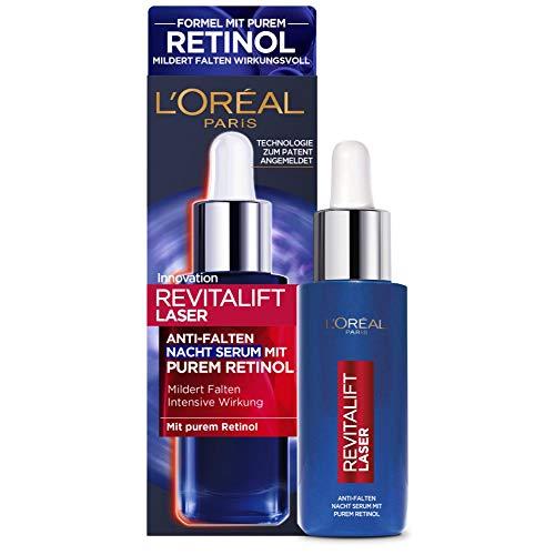 L'Oréal Paris Retinol Serum, Anti-Falten Nacht-Serum, Mit Vitamin A, pflegendem Öl &...