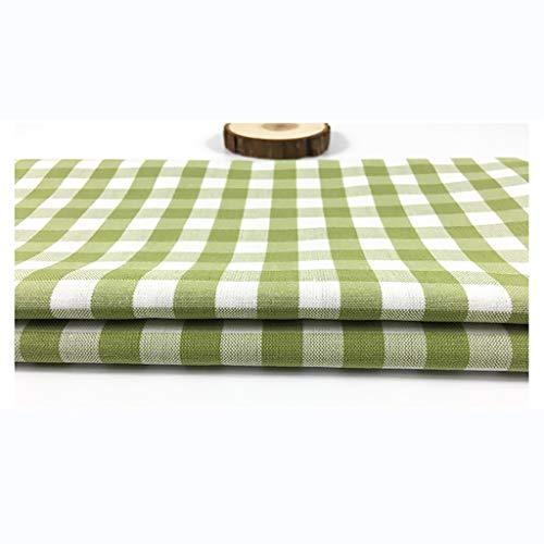 Tela de Lino Natural Imprimir Cuadros Costura Patchwork Para Tapicería, Decoración de Macetas y Mantel Vendido por Metro(150cm de Ancho)