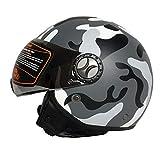 Tank TK-701 Open Face Scooter Motorcycle Motorcycle Helm, Jet Pilot Mofa Chopper Cruiser Retro Vespa...