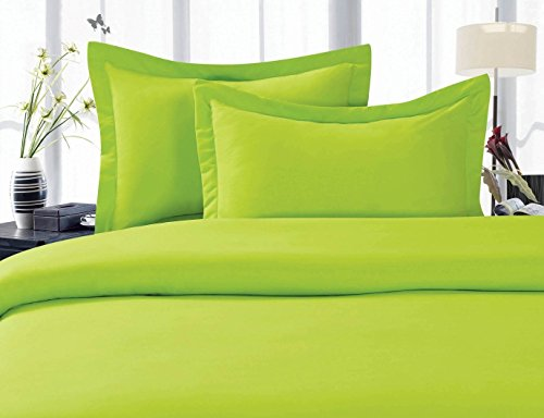 Elegant Comfort 1500 Thread Count Wrinkle,Fade and Stain Resistant 4-Piece Bed Sheet Set, Deep Pocket, Hypoallergenic - Full Lime