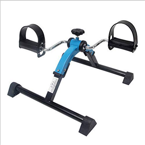 AFSDF Klettern Fußmaschine Tragbare Fitness Stepper Bein Machine Home Fitnessstudio Übung Mini Laufband Fettverbrennung SpinningUp-Down-Stepper Mit (Color : Blue)