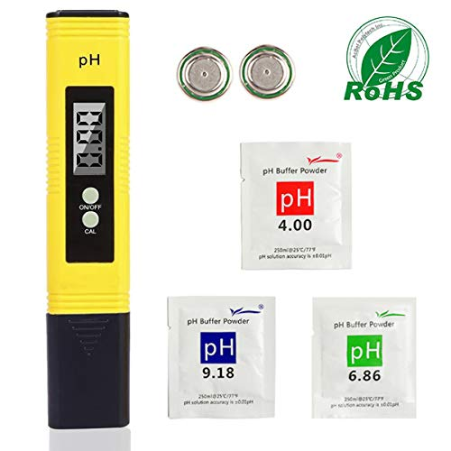 Festnight Num/érique LCD pH m/ètre pH Test Stylo Portable Compensation automatique de la temp/érature Haute pr/écision Aquarium Testeur de qualit/é de leau