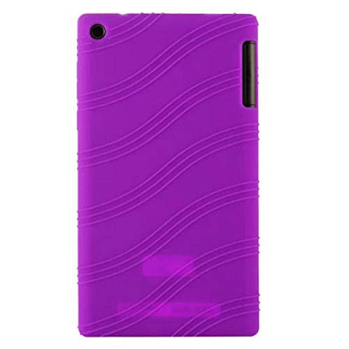 Silicon Case For Lenovo Tab 2 A7-30HC A7-30GC A7-30TC A7-30DC Soft Back Protect Shell For Lenovo Tab2 7.0 A7-30-Purple