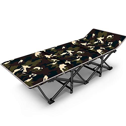 LIYONG Camouflage Chaise Longue Chaise de Jeu Occasionnel portatif de lit de Plage Chaise Longue Pliante (Color : Camouflage and Cotton Pad)