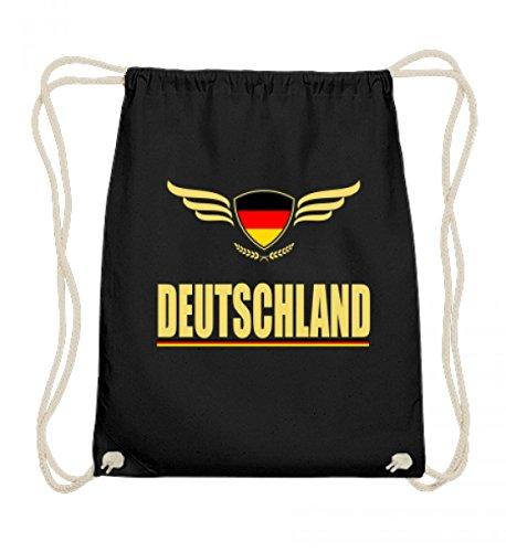 Hochwertige Baumwoll Gymsac - Deutsche Flagge Trikot Germany T-Shirt Fussball Fan Geschenk