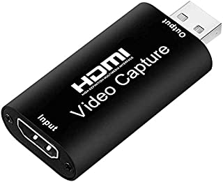 HDMI Video Capture, HMNXG Audio Video Capture Cards HDMI to USB, Full HD 1080p USB 2.0 Record via DSLR Camcorder Action Ca...