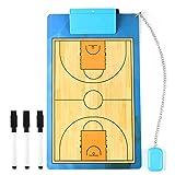 Pizarra de baloncesto, tabla táctica para entrenamiento, tabla de ejercicios Dry Erase Coach Marcadores, ligera y portátil (40 cm x 24 cm)