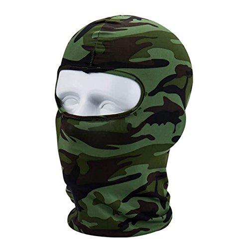 Sturmhaube/Gesichtsmaske für den Winter, für Outdoor-Sport, Motorradfahren, Fahrradfahren, Unisex , Dschungel-Camouflage, Einheitsgröße