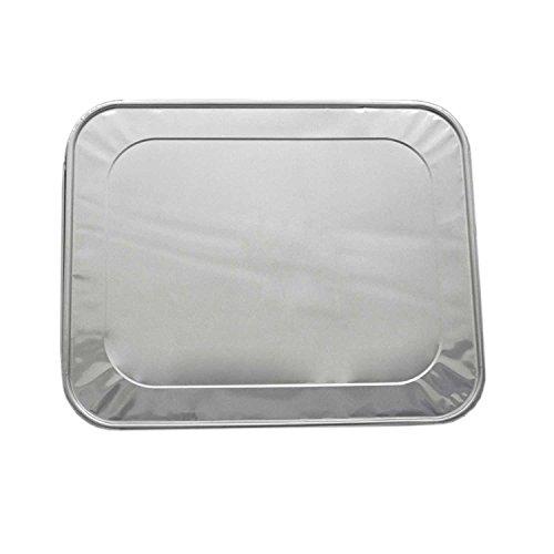A World Of Deals AWOD07641 Aluminum Foil Lids for Aluminum Steam Table Pans, Fits Half-Size Pans ,SILVER,(1 Bags of 20)