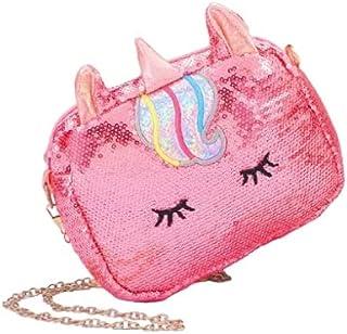 ExcluZiva Gallery Girls Stylish Unicorn Sequence Sling Bag Cross Body Shimmery Shiny Zipper Hand Bag Mobile Makeup Station...