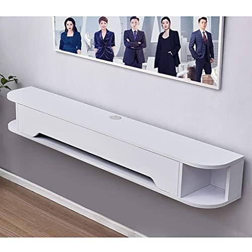 Peakfeng Gabinete de TV, TV Baja, estantes flotantes, Consola de TV Flotante, Soporte de televisión Flotante de 51,1/59 Pulgadas, Espacio para Guardar Piso, Consola de Medios montados en la Pared.