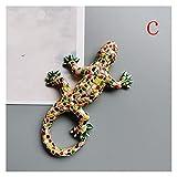 JSJJAJN 3D Español República Dominicana Turismo Turismo Lagarto Gecko Imanes De Frigorífico Iman De Frigorífico para Decoración del Hogar Imán de refrigerador (Color : C)