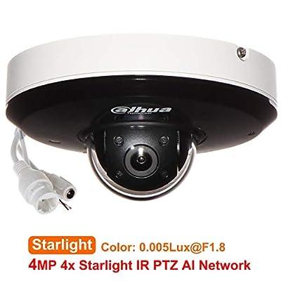 Dahua SD1A404XB-GNR 4MP 4X Zoom Starlight IR PTZ AI Network IP Camera Face Detection Perimeter Protection SMD Plus PoE Orignal English Version upgradable