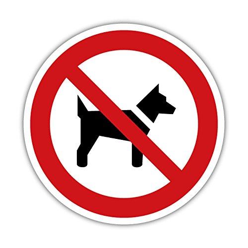 Hundeverbot Hunde Verboten Aufkleber Schild Hinweisschild 10cm Verbotsschild (Design1) (1)
