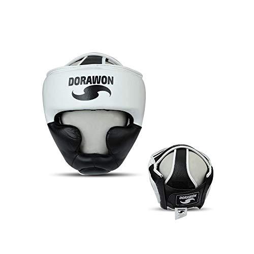 Dorawon, Casque de Protection Cuir Seattle Taille L, Blanc et Noir