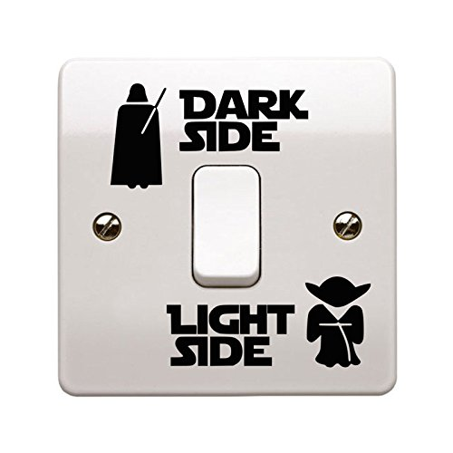 Dark Side Light Side Light Switch Vinyl Decal Sticker UK Made (1)