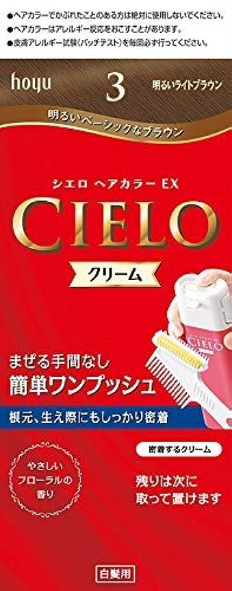 追跡ビジネス再生ホーユー シエロ ヘアカラーEX クリーム 3 (明るいライトブラウン) ×6個