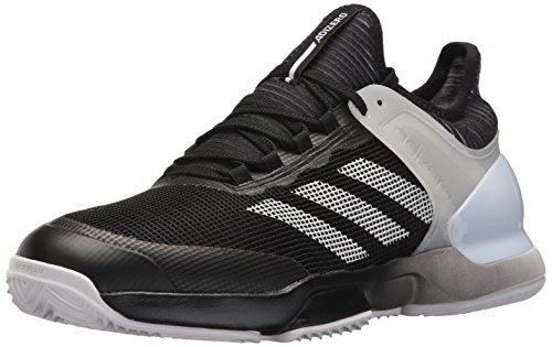 adidas Men's Adizero Ubersonic 2 Clay Tennis Shoe, core Black/White/White, 6.5 M US