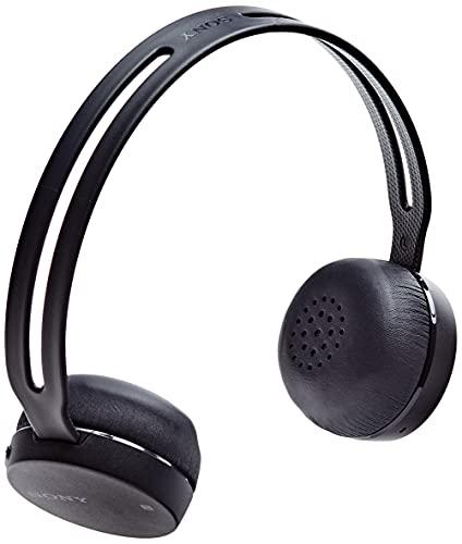 Sony WH-CH400 kabelloser Bluetooth Kopfhörer (Bis zu 20 Stunden Akkulaufzeit, Freisprechfunktion, NFC, Headset mit Mikrofon für Telefon & PC/Laptop) Schwarz