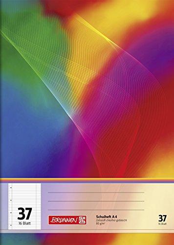 Brunnen 104493702 Schulheft A4 (16 Blatt, liniert, mit Rand, Lineatur 37)