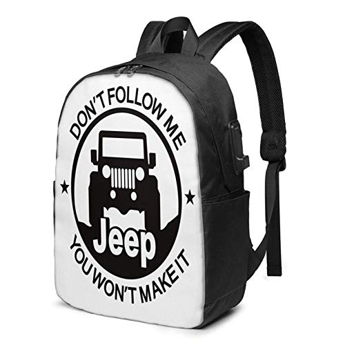 JE-EP Backpack Laptop College School Bag Casual Daypack with USB Charging Port