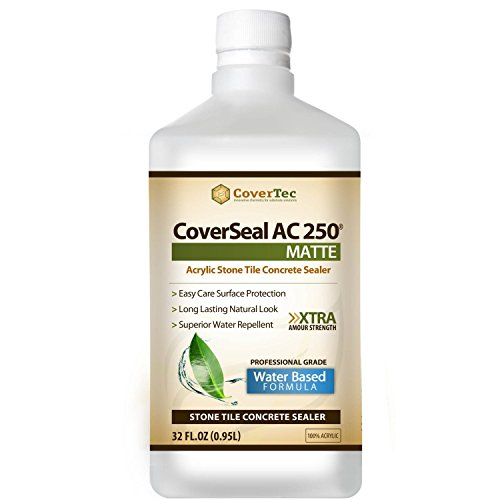 CoverSeal AC250 Matte Stone, Tile and Concrete Sealer, Water Based (1 Qrt - Prof Grade)