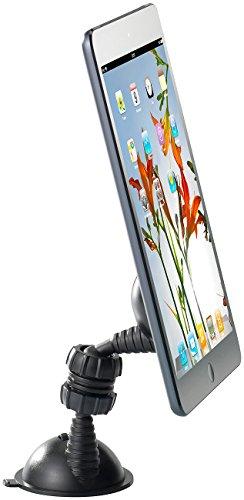 Callstel Kfz Tablet Halterung: Doppelsaugnapf-Halterung für Smartphones und Tablets (Smartphone Halter Kfz)
