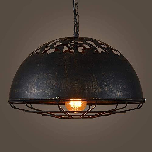 Creativo e27 zócalo accesorio colgante luces accesorio baraja mesa restaurante solo cabeza techo suspensión lampmesh labrado hierro arte lámpara lámpara retro industrial colgante luces personalidad
