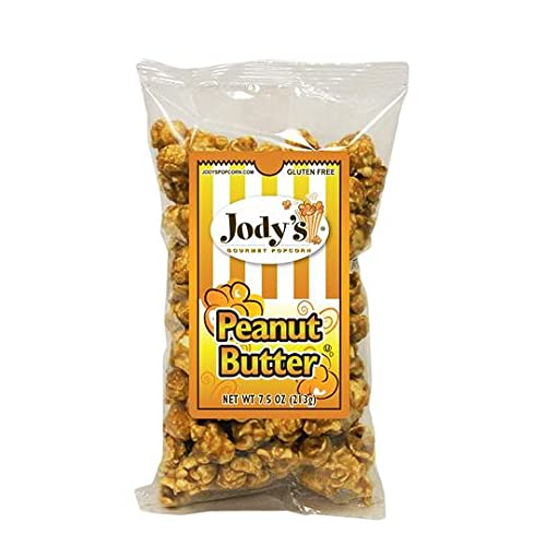 Jody's Gourmet Alternative dealer Popcorn- Peanut Butter 8 Dedication Tin Bags of