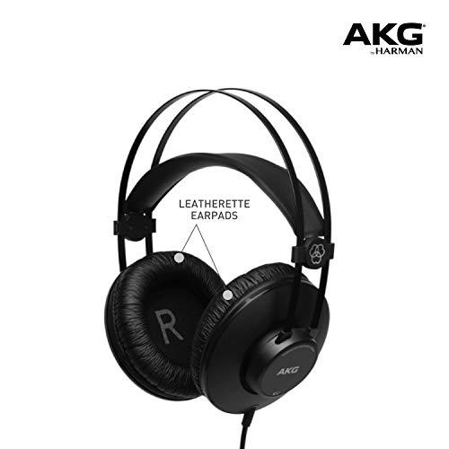 AKG K52 Closed Back - Auriculares, 18 - 20000 Hz, 200 mW, 110 dB, 32 Ω