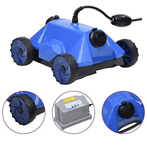 Goliraya Robot Limpiador de Piscina Robot Eléctrico Limpiafondos de Piscina 48 x 46 x 31,7 cm