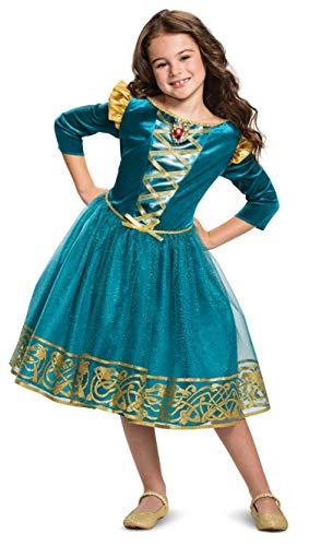Disguise Disney Princess Merida Classic Girls' Costume, Blue Small...