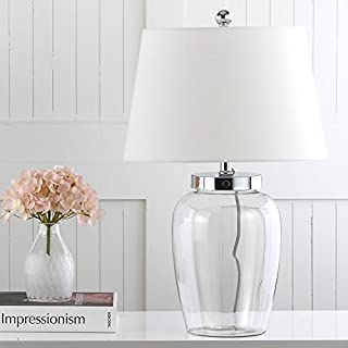 Safavieh Lighting Collection Evan Clear Glass 22.5-inch Table Lamp