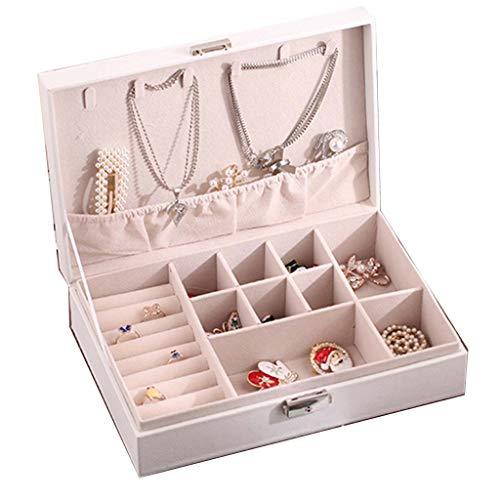 Reissieradenetui, kleine sieradendoos, draagbare reisjuwelendoos, organizer, vitrinekast, voor armbandringen en oorbellen