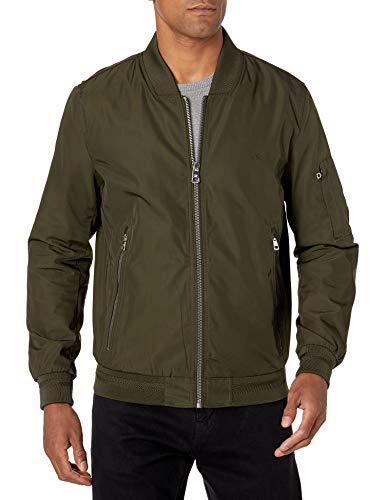 Calvin Klein Men's Flight Jacket, Olive, Medium