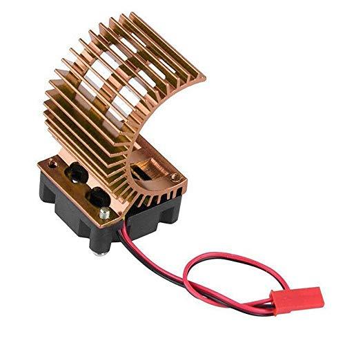 JAP768 Motor del disipador de Calor del radiador con el Ventilador Ajuste for 540/550/3650 Motor eléctrico de 1/10 RC Modelo de Coche Apto for HSP/Ajuste for Redcat/AXAIL SCX10 RC (Color : D)
