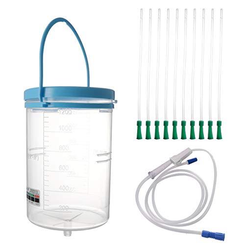 EXCEART Enema Bucket Kit Vagina Enema Kit de Limpieza con Tubo Y Conector para Agua Colon Limpieza Café Desintoxicación Enemas 1200Ml