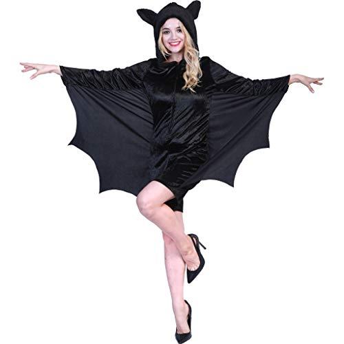 EraSpooky Costume da Pipistrello per Donna Costume da Vampiro per Adulti Costumi Animali Cosplay Carnevale Halloween Party