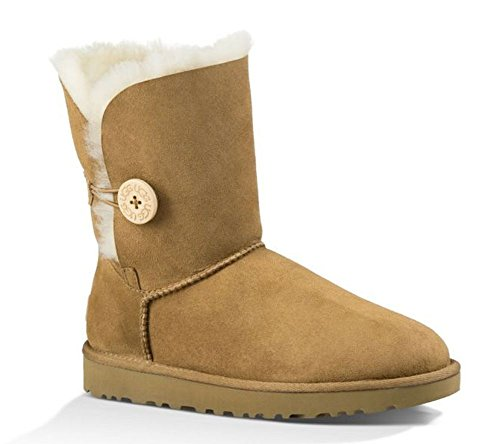 UGG Female Bailey Button II Classic Boot, Chestnut, 5 (UK)