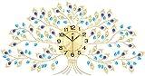 LXYZ Reloj de Pared de Pavo Real/decoración del hogar muda Reloj de Sala de Estar de Cristal Europeo Decoración de Arte Creativo