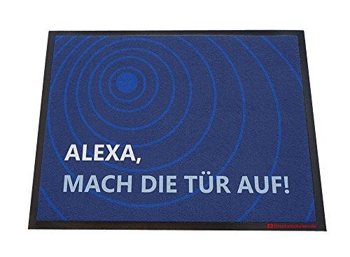 Dreckstückchen wash&go, Fußmatte mit Aufdruck: Alexa, robuste Schmutzfangmatte, maschinenwaschbar bei 40 Grad